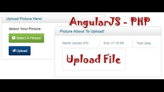AngularJS : file upload -- preview, upload and load image or picture/file with php