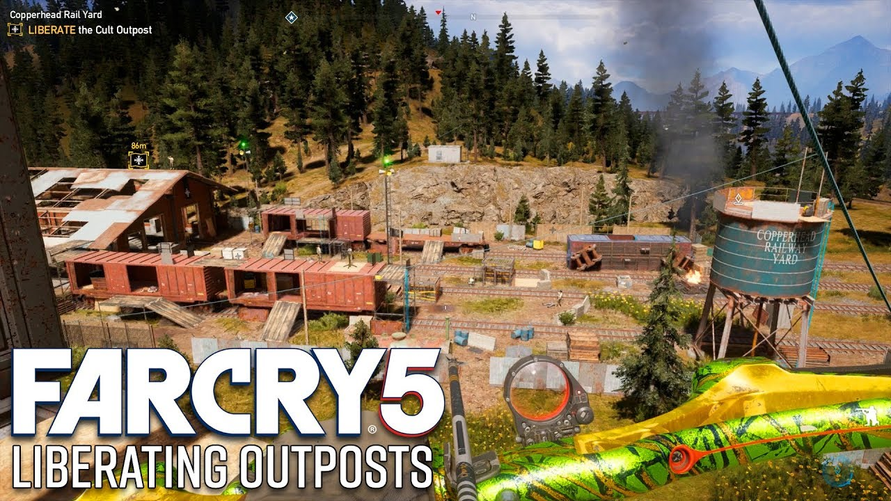 Far Cry 5 Gameplay Liberating Outposts Stealth Youtube