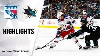 NHL Highlights | Rangers @ Sharks 12/12/19