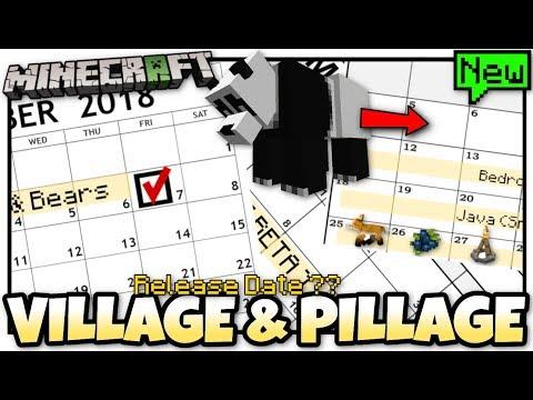 Minecraft  VILLAGE & PILLAGE UPDATE  Release Date ?!?! Bedrock  JAVA  Console