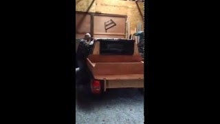 Modified Jeep Grand Cherokee with Wood Plank Truck Bed