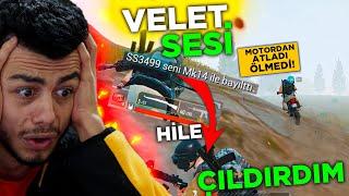 VELET SESİ İLE TROLL YAPARKEN HİLEYE DENK GELDİM !! ( ÇILDIRDIM ) - PUBG Mobile