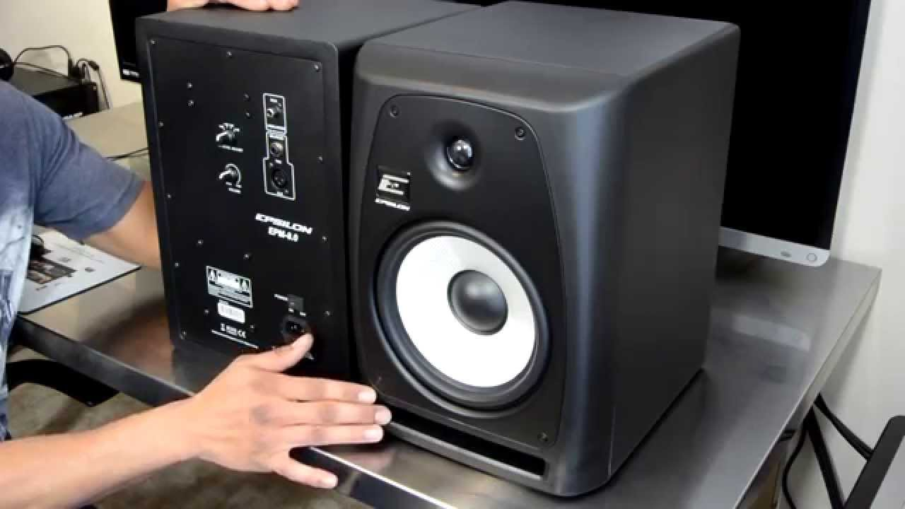 Epsilon EPM 80 Active Studio Monitor Speaker Review YouTube