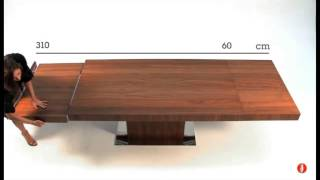 Calligaris Wood Park Extension Single Pedestal Table - Product Review Video