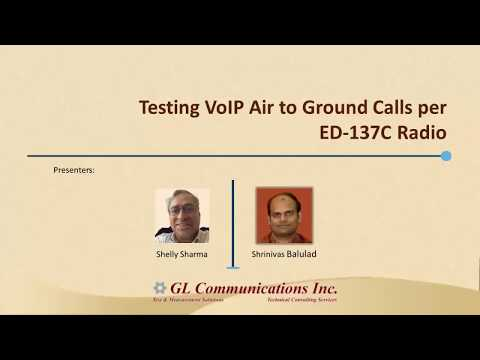 Testing VoIP Air to Ground Calls per ED 137C Radio