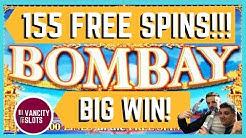 🚨155 FREE SPIN BONUS! - CRAZY Retriggers! - BIG Win! - Bombay Slot - VanCity Slots