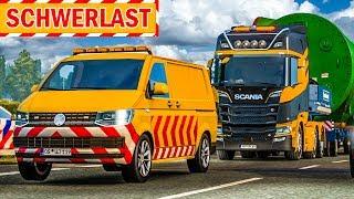 SPEZIALTRANSPORT in engen Straßen! | Euro Truck Simulator Special Transport DLC deutsch #2