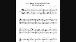 You Lost Me - Christina Aguilera - Piano Accompaniment + SHEETS