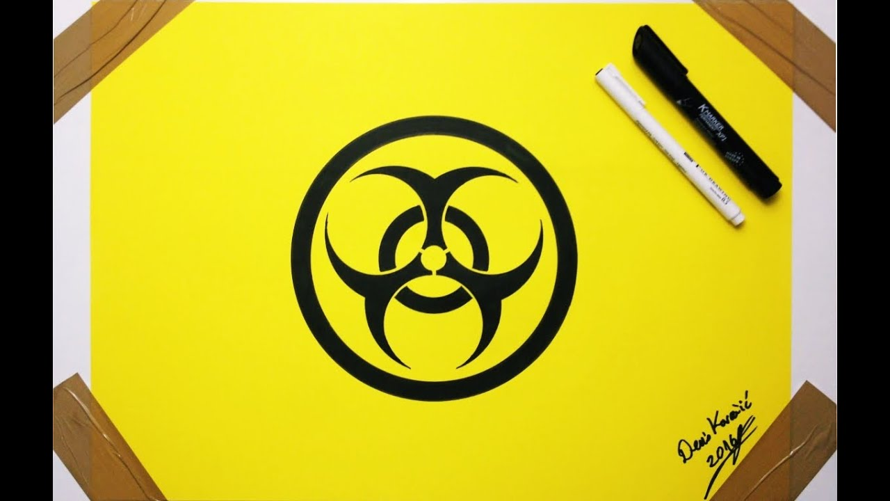 Biohazard Symbol Drawing How To Draw Youtube