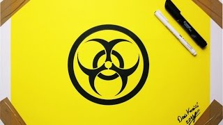Biohazard Symbol Drawing  - How to Draw