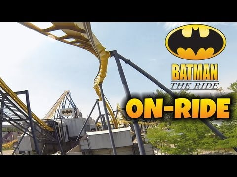 Batman The Ride On-ride Front Seat (HD POV) Six Flags Great Adventure