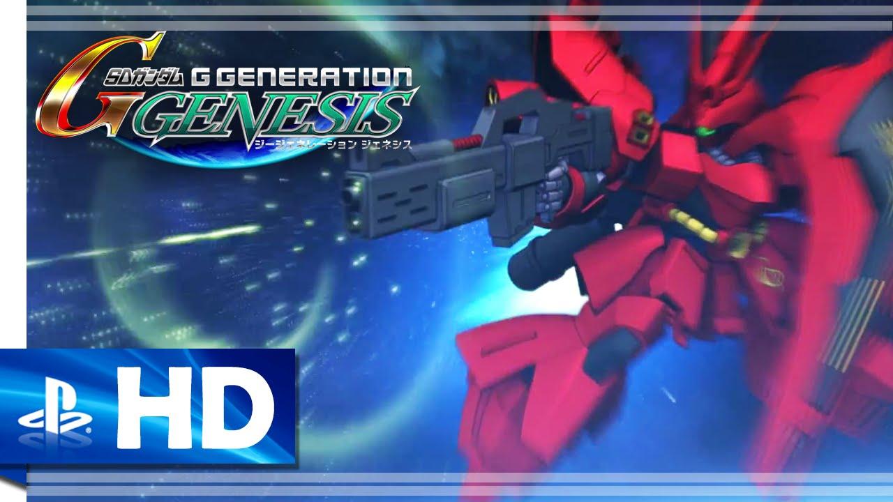 "SD Gundam G Generation Genesis (2016) ""Sazabi"" Gameplay ..."