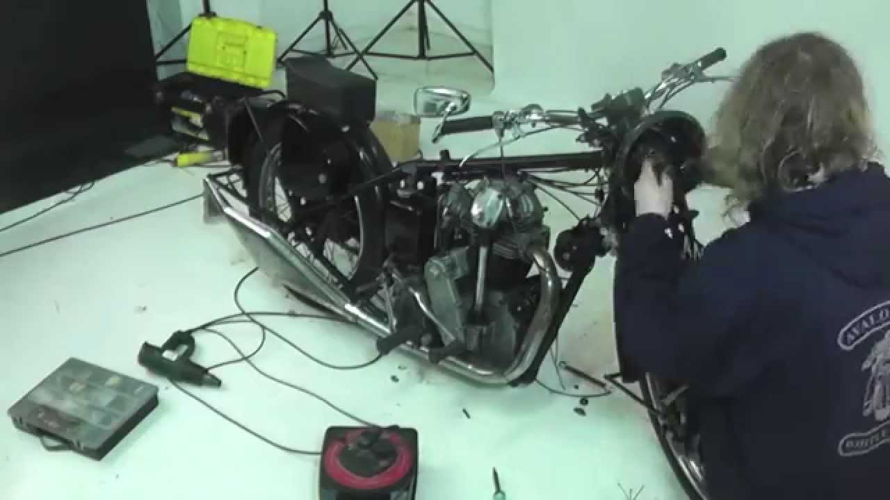 Six hour Velocette rewire in three minutes! Velocette Mac Wiring Diagram on