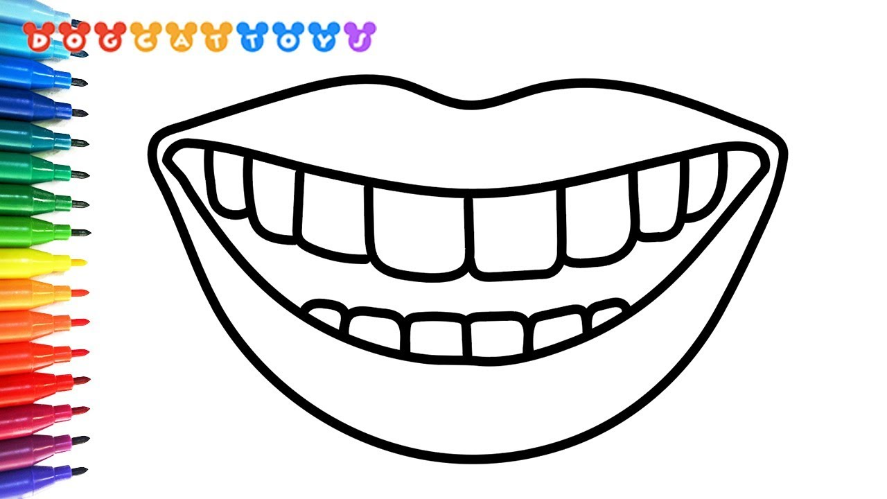 How to Draw A Mouth and Teeth Coloring Pages | Drawing, Coloring & Art for  Kids #72