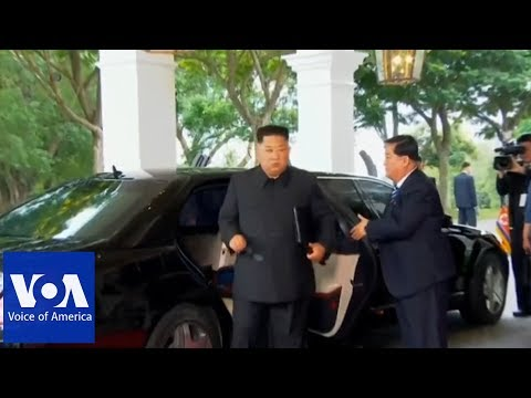 Kim Jong Un Arrives at Summit Location