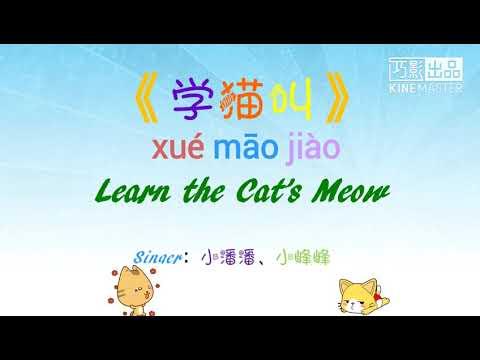 学猫叫-小潘潘、小峰峰 歌词版 (xue Mao Jiao-xiao Pan Pan Xiao Feng Feng Ge  Ci Ban)