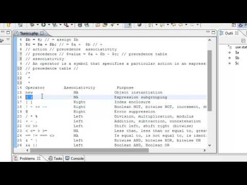 28 - Operator - Operator Precedence - Operator Associativity - Precedence  Table