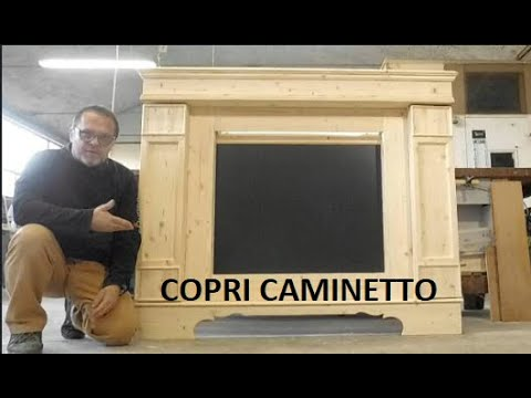 COPRI CAMINETTO IN LEGNO fireplace WOOD xmas DIY tutorial FAI DA TE