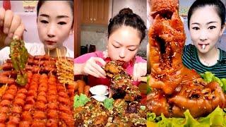 ASMR MUKBANK SPICY FOOD EATING COMPILATION 7