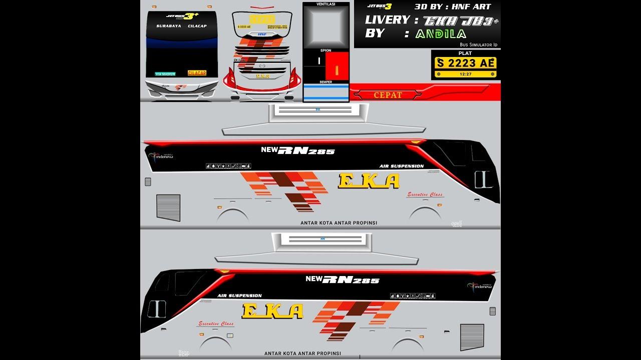 Rilis Bagi Bagi Livery Eka Cepat Jetbus 3 Bussid Youtube