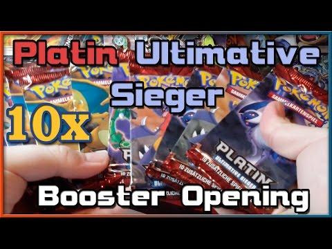 10x Platin - Ultimative Sieger - Booster Pack Opening (Deutsch) - Oldschool Style!