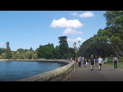 SYDNEY Walking Tour From The Opera House Around Botanic Gardens. ( Feiyutech Steadicam)