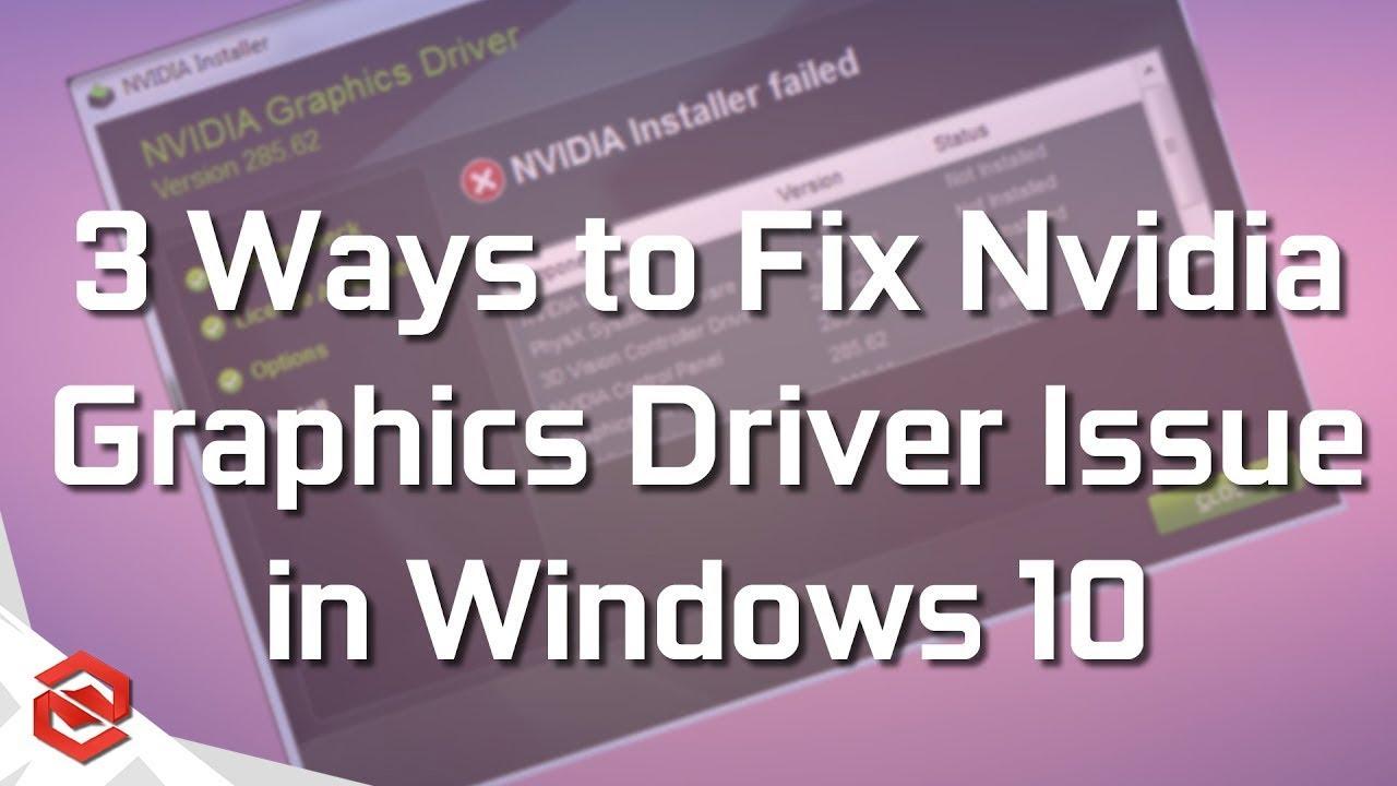 Nvidia Graphics Driver  Windows 10