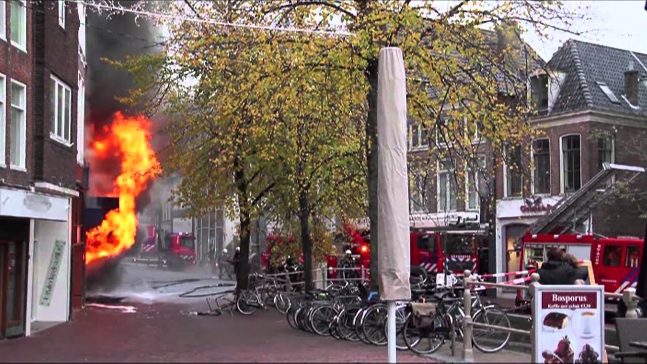gptv zeer grote brand in centrum leeuwarden