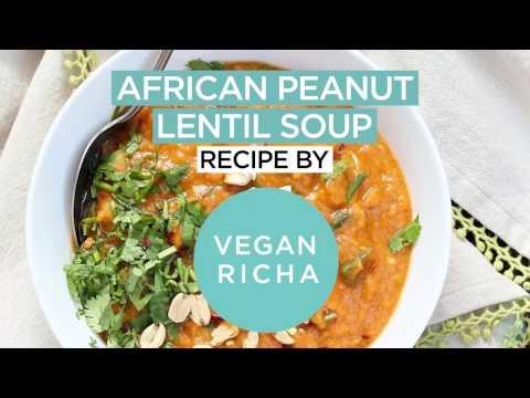 West African Peanut Lentil Soup
