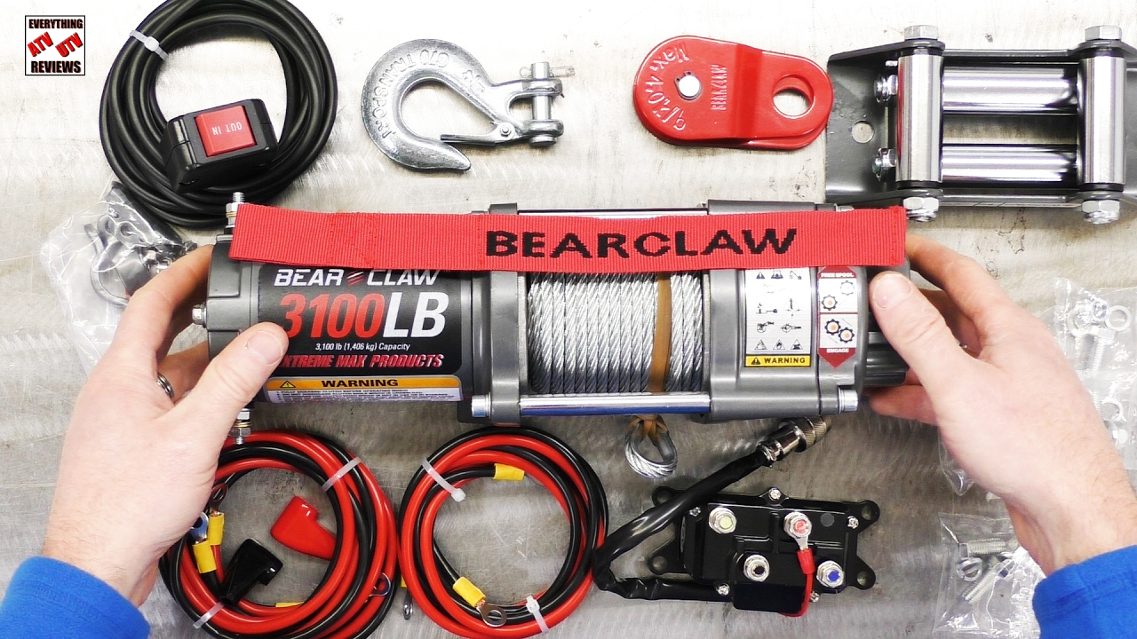 NEW ATV WINCH - BEAR CLAW 3100LB Overview by Extreme Max - YouTube