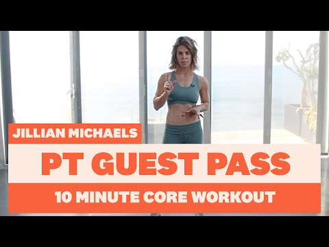 10 Minute Core Workout with Celeb PT Jillian Michaels | Women's Health UK
