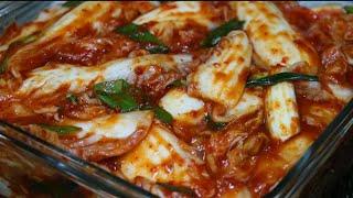 김치요리[여름막김치]장마오기전에 배추2포기로 맛김치 맛…