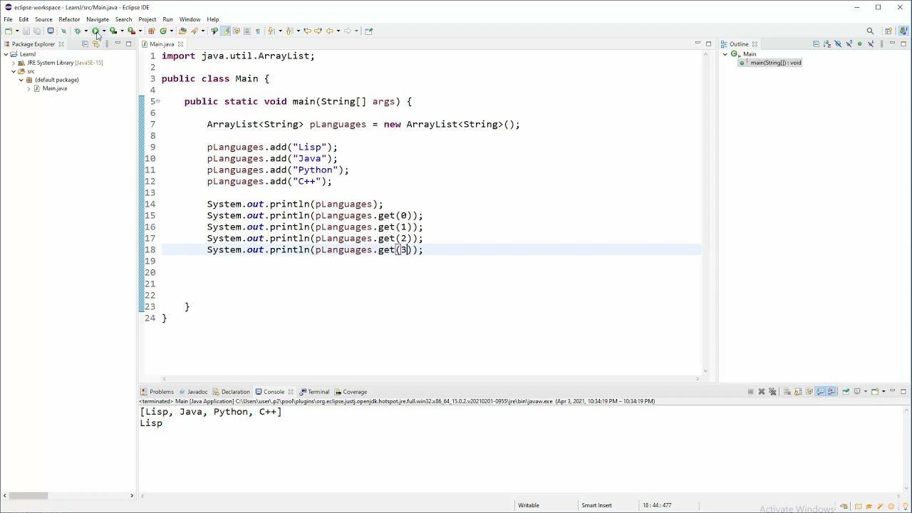 Java OO Tutorial - 34 - ArrayList