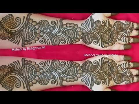 Very Beautiful Latest Floral Arabic Henna Mehndi Design For Front Hand Youtube