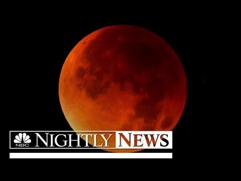 Stunning Images of Supermoon Eclipse Captivate Millions Around World | NBC Nightly News