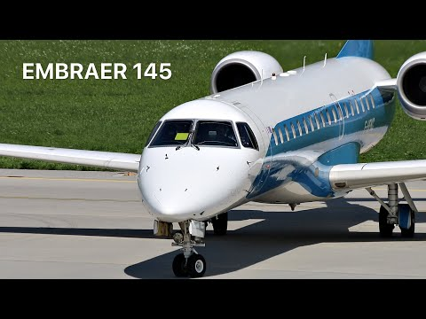 ▶ Enhance Aero *Dniproavia Hybrid Cs* Embraer 145 [F-HFKC] Departure at Innsbruck