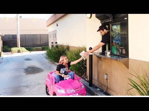 GOING IN DRIVE THRUS IN TOY CARS ft. LEXI RIVERA