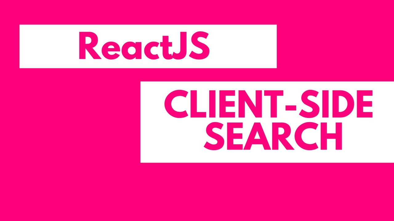 React Multiple Search Filters