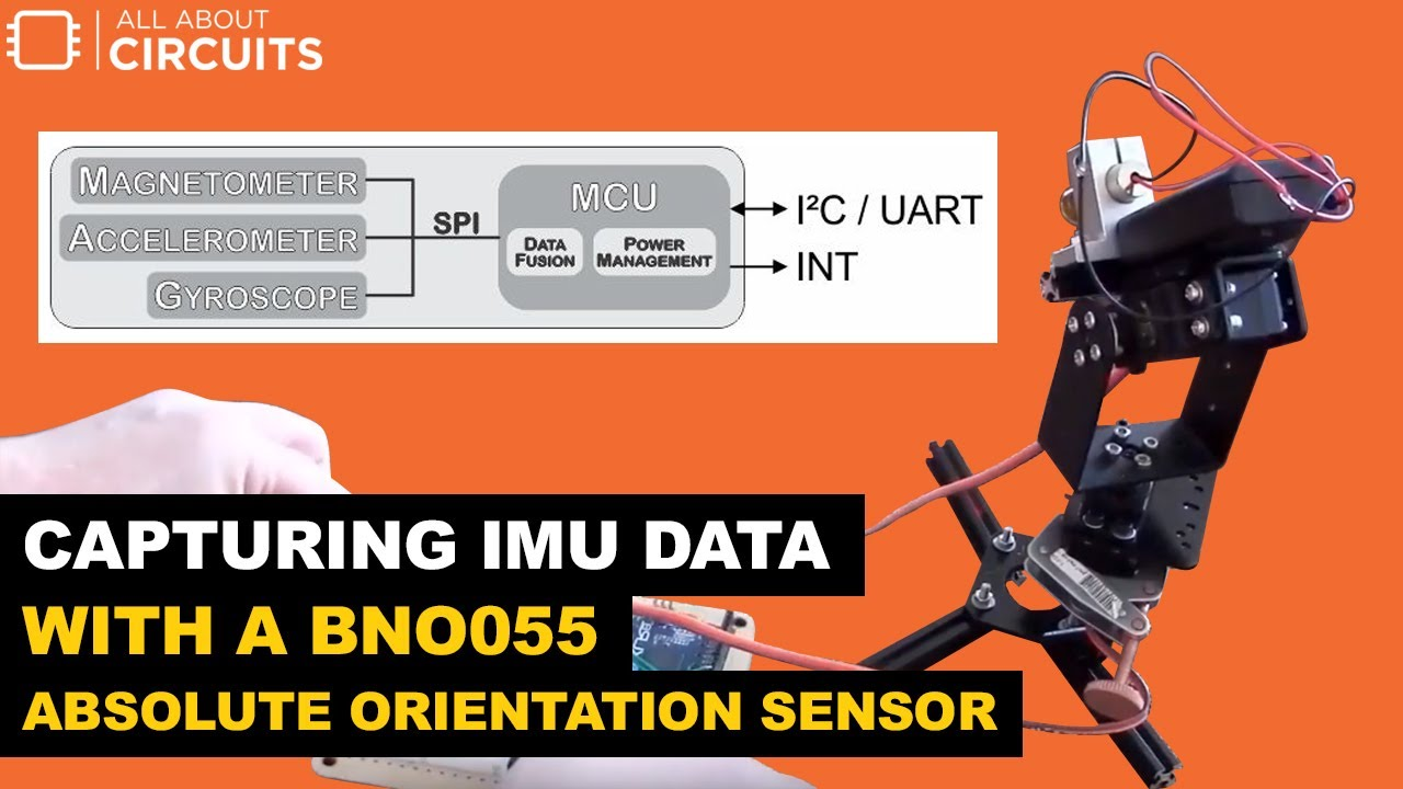 Capturing IMU Data with a BNO055 Absolute Orientation Sensor