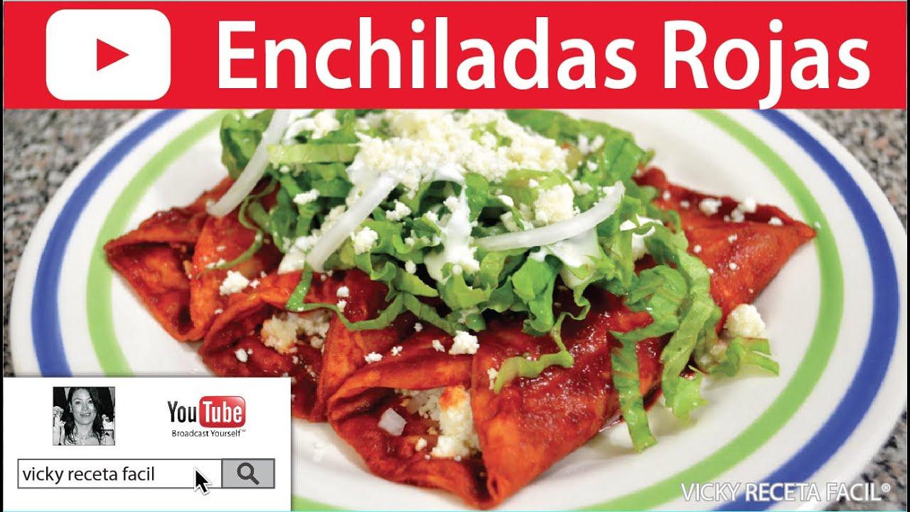 ENCHILADAS ROJAS | Vicky Receta Facil - YouTube