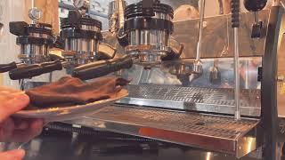 카페 (머신) 마감할 때 필수적인 것 - 백 플러싱