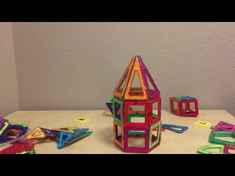 Magformers - Magnet Tiles Rocket Ship Build