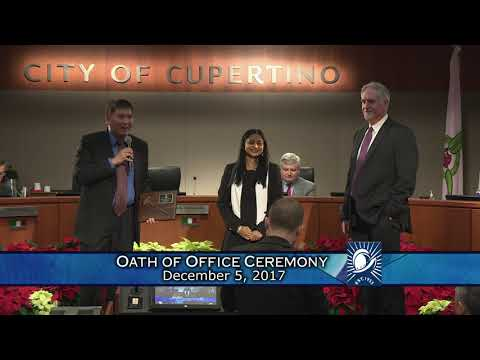 Cupertino City Council Oath of Office Ceremony 2017