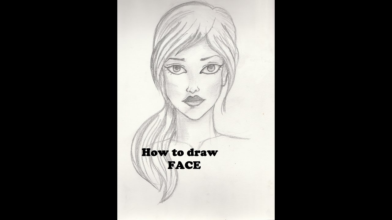 How to draw Face - Tutorial for Beginners - YouTube
