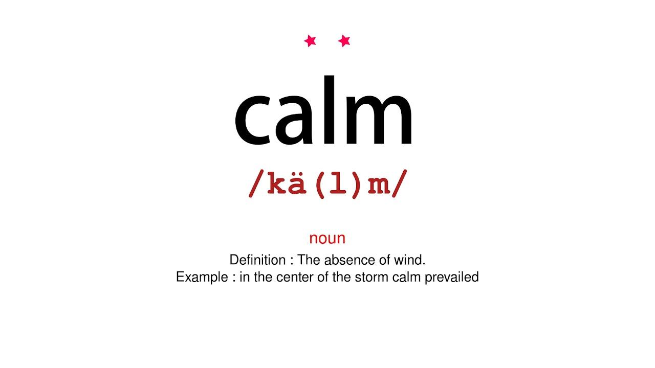 How to pronounce calm - Vocab Today