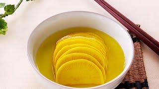 Настоящая корейская кухня: Маринованный редис Дайкон 단무지