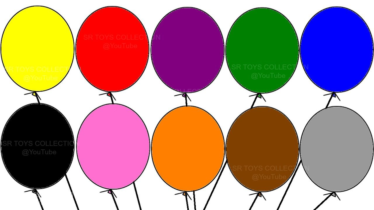 hight resolution of learning colours with balloon colouring page children s educational video youtube