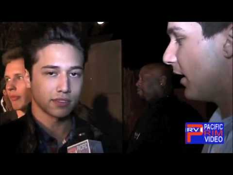 Actor Jesse Rath at Artists For Humanity