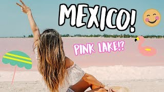 WHAT WE DID IN MEXICO! PINK LAKE! 2 YEAR ANNIVERSARY!
