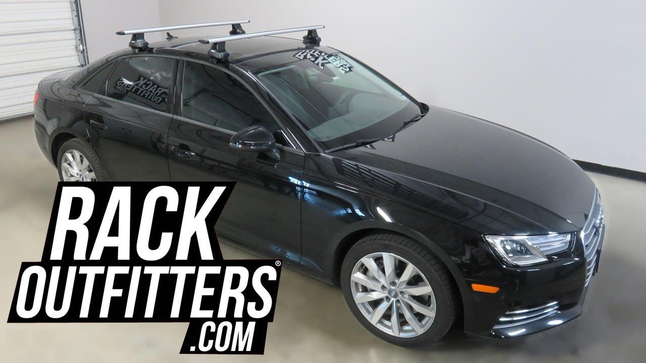 2017 audi a4 sedan with thule rapid traverse aeroblade roof rack crossbars